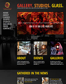 Gathered Art Gallery Site Redesign