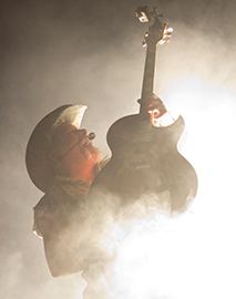 Ted Nugent Light and Fog Concert Photo